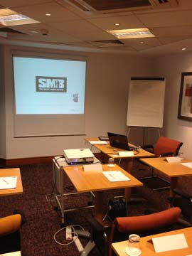 Seminar Room in Birmingham ready for Attendees