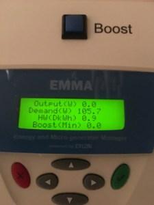 EMMA unit used grid power overnight