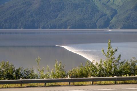 The Turn Again Arm tidal bore in Alaska