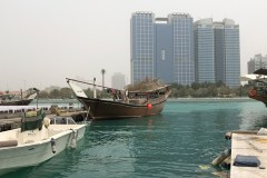 Across from the dhow docks in Abu Dhabi