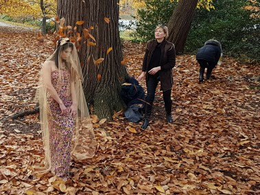 Fashion shoot prep - testing the autumn fall.