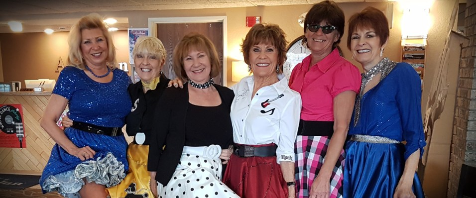 These gals have been coming to the Winter Dance Party for 59 years