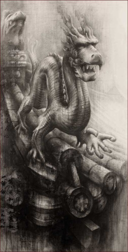 Ian Murphy - Emperor's Dragon II - Graphite - Drawing