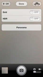 Panorama Option Screen
