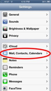 how to delete email contacts on ipad 4