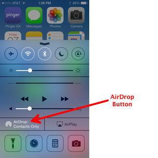 AirDrop Button