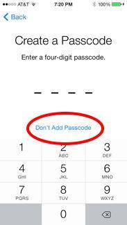 Skip Passcode
