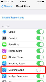 Deleting Apps