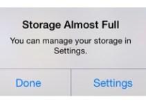 Storage Full Message
