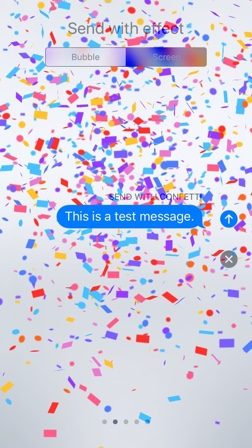 Confetti Screen Effect