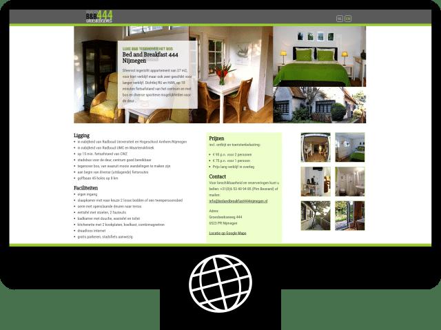 BnB444 Nijmegen – website