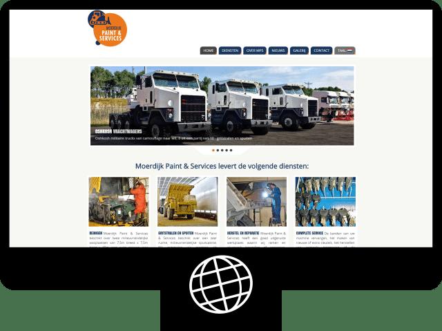 Moerdijk Paint & Services - website