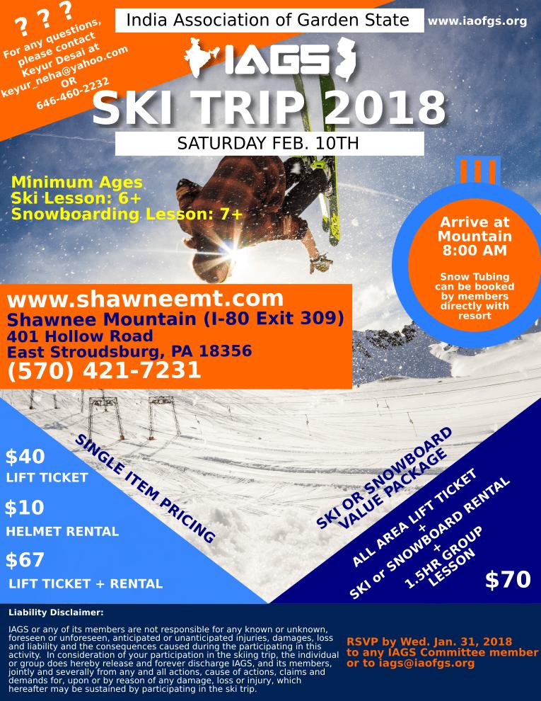 IAGS 2018 Ski Trip Flyer