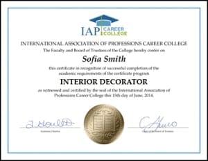 High Quality Interior Design Certificates Home Ideas