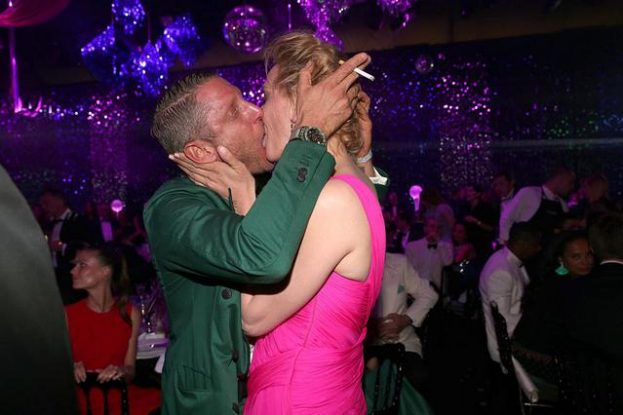 CAP D'ANTIBES, FRANCE - MAY 19:  Lapo Elkann kisses Uma Thurman during the amfAR's 23rd Cinema Against AIDS Gala at Hotel du Cap-Eden-Roc on May 19, 2016 in Cap d'Antibes, France.  (Photo by Gisela Schober/Getty Images for amfAR )
