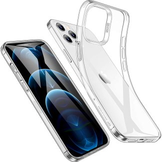 Apple iPhone 12 Pro Max Clear TPU Gel Silicon Cover Case