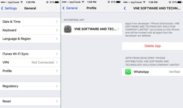 clone whatsapp on iOS 9 iPad_iapptweak