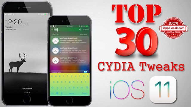 TOP 30 Best Cydia Tweaks & Apps For iOS 11 – 11.4 Electra Jailbreak
