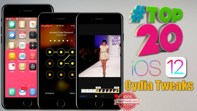 TOP 20 Brand New Cydia Tweaks For iOS 11/iOS 12 Jailbreak
