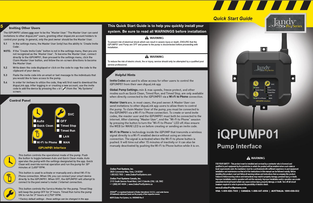 small resolution of iqpump01 quick start guide