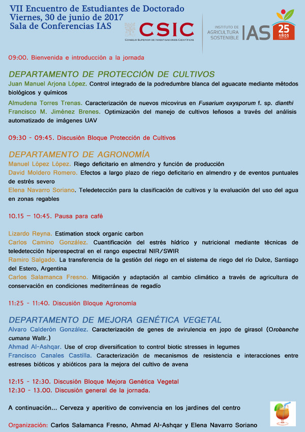 VII Encuentro Anual de Estudiantes de Doctorado del IAS