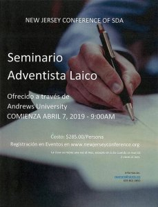 2019 Seminario Adventista Laico (SAL) @ New Jersey Conference of SDA  | Morristown | New Jersey | United States