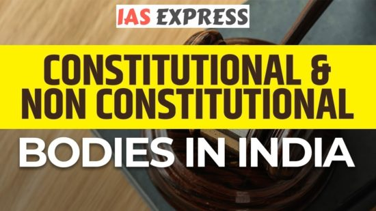 Comparisons differences between constitutional non-constitutional posts upsc ias prelims