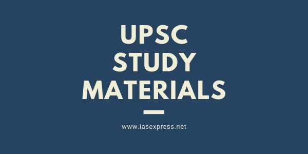 Study Material for UPSC Preparation