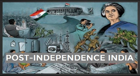 Modern Indian History Mind Map – Post Independence