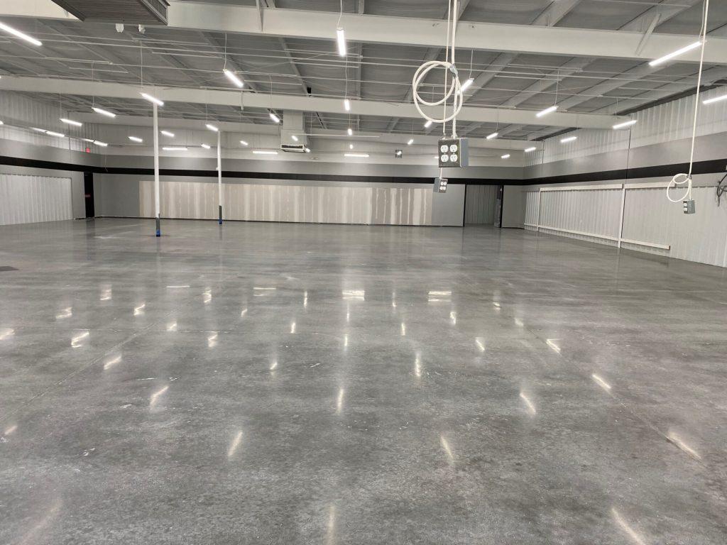 TeamIA, polish concrete, commercial concrete polishing, polished concrete retail, polished concrete BradleyAR, Industrial Applications Inc., IA30yrs, BradleyAR