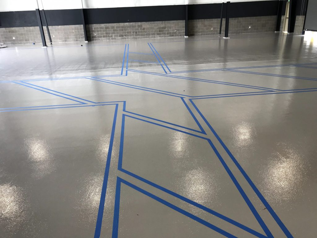 safety striping, epoxy safety striping, line striping, epoxy floor coatings