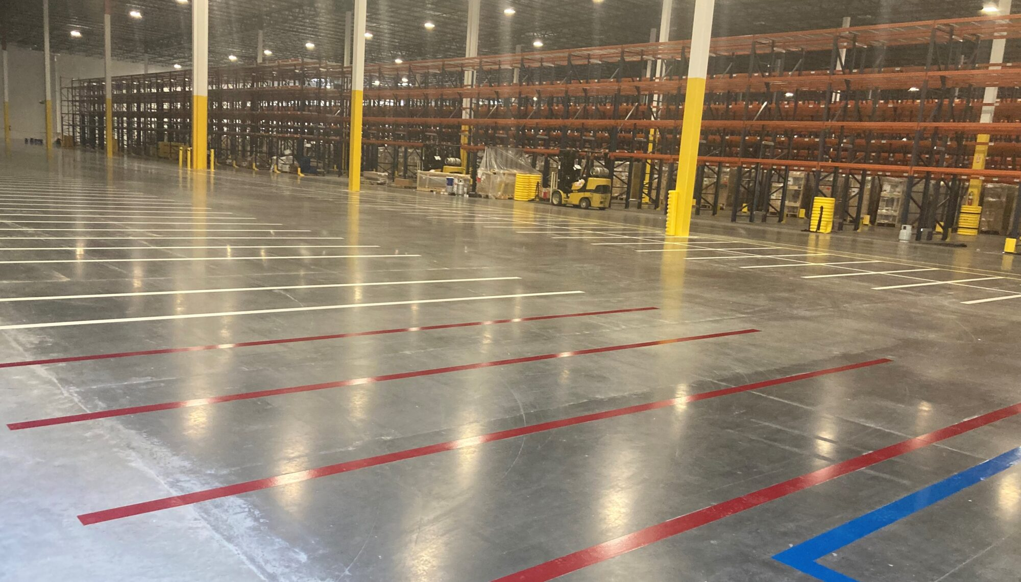 safety striping, 5S, epoxy floor coatings, epoxy line striping, epoxy coatings, Industrial Applications Inc., TeamIA, industrial concrete flooring Piperton, TN