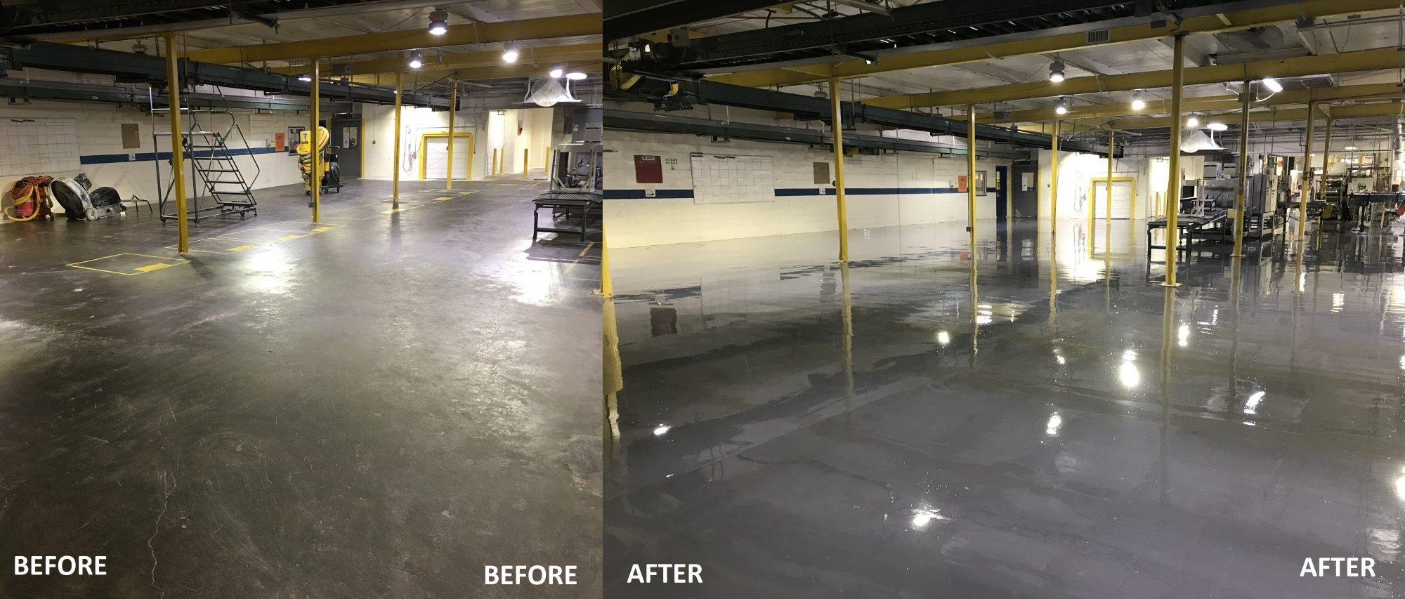 epoxy floor coatings, resurfacer, urethane topcoat, food and beverage flooring, industrial floor coatings
