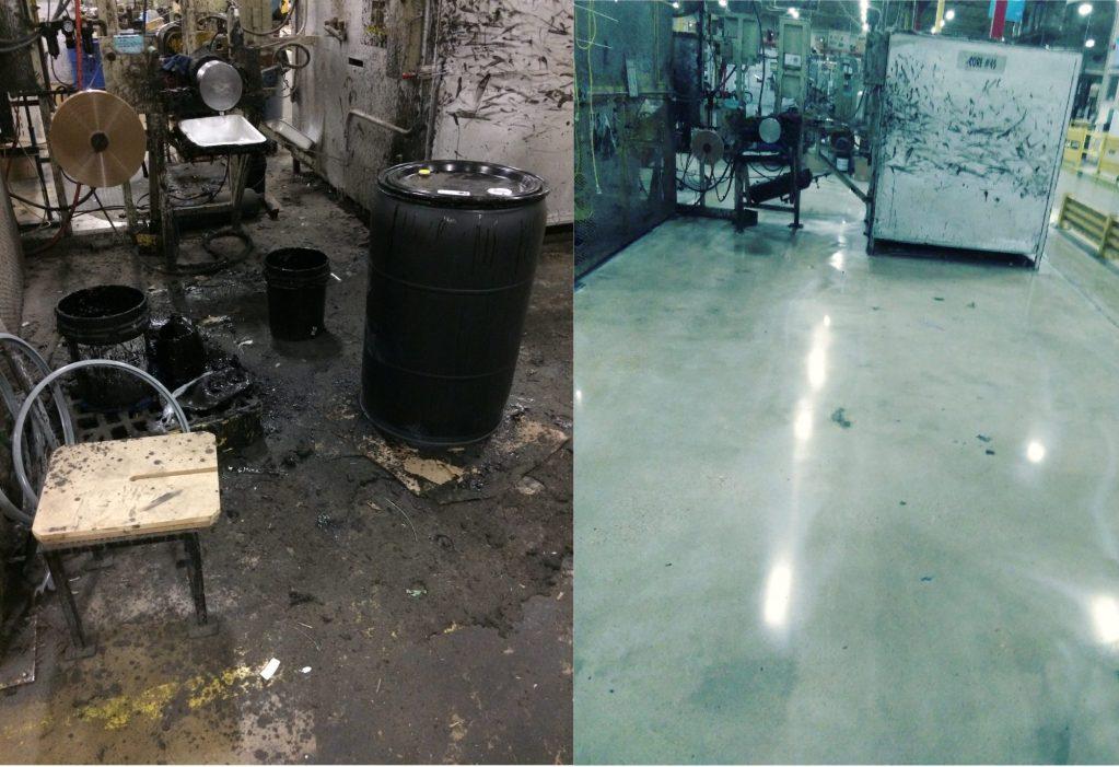 memphis polished concrete, manufacturing aisles, manufacturing concrete , industrial polished concrete