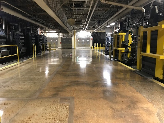 polished concrete, medical supply manufacturing floor