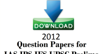 2012 UPSC Question Paper free Download