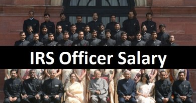 IRS Officer Salary and other government facilities provided to them