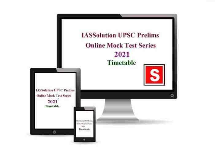 IASSolution Prelims Test Series 2021 Timetable