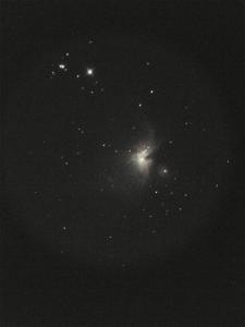 Single frame of Orion Nebula