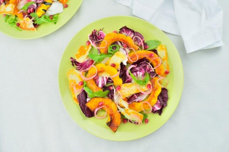 radicchio squash salad 2 2