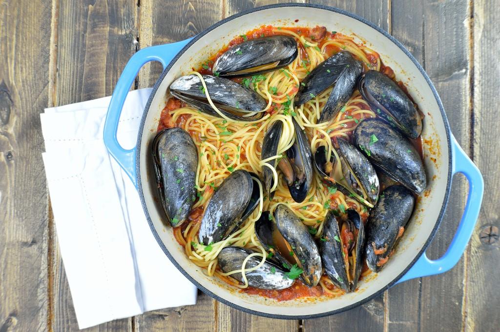 spaghetti mussels 10