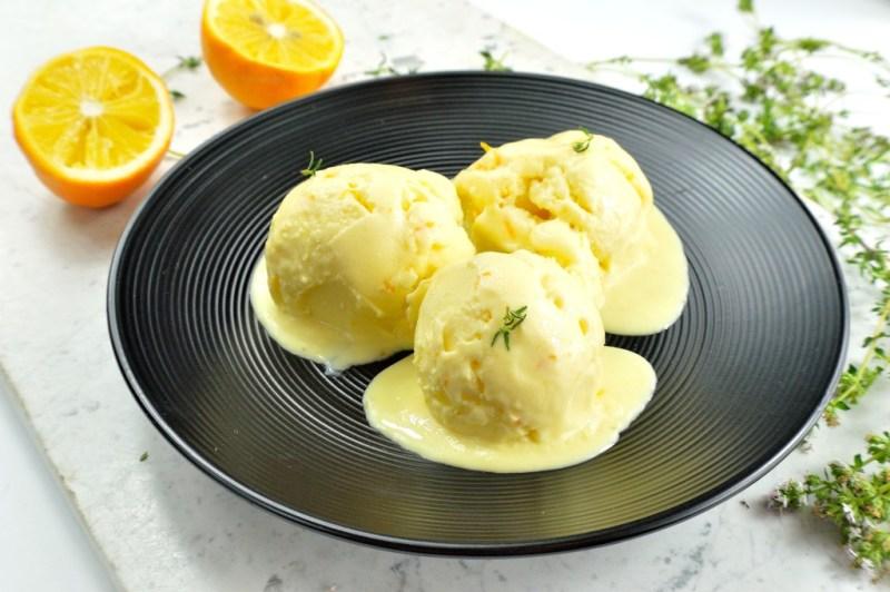 meyer lemon thyme ice cream 12