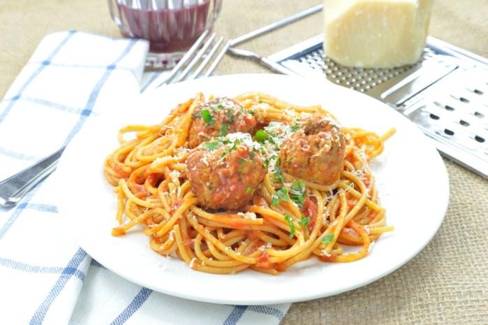spaghetti meatballs 9 B