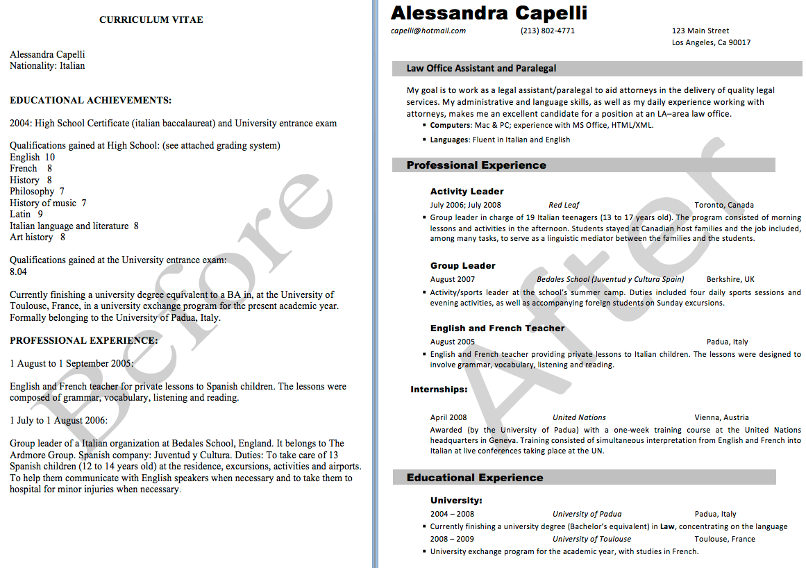 Example Of Resume Letter For Job - Examples of Resumes