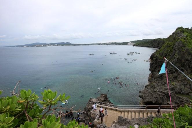 岬からの眺めも素晴らしい