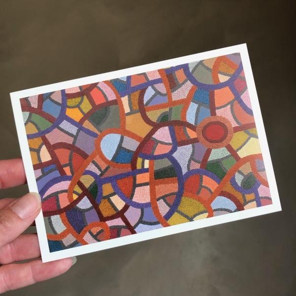 just a card kaart 1 dot painting Ibbel Dibbel
