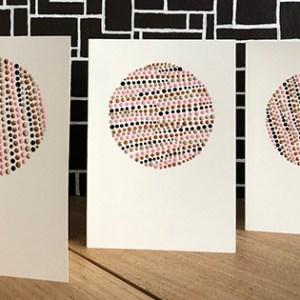 dubbele kaarten met dots Ibbel Dibbel