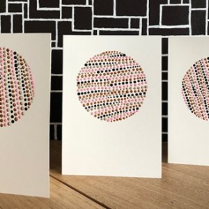 Hand painted cards with by Ibbel Dibbel