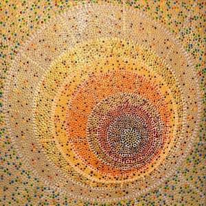 Bushfires • dot painting • Ibbel Dibbel
