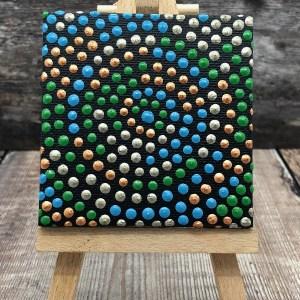 Green circle • dot painting magnet • Ibbel Dibbel